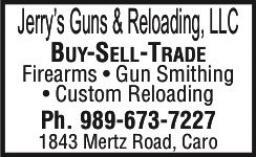 guns for sale, ammunition reloading, caro michigan, buy sell trade firearms